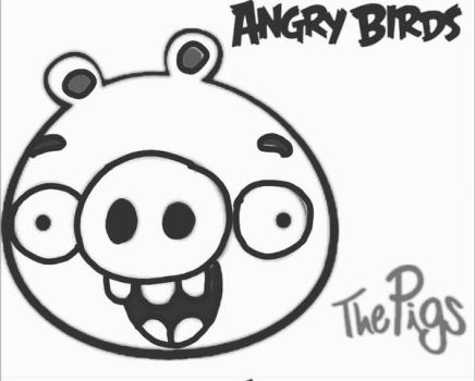 ANGRYBIRDSTIFF 0 The Pigs Coloring Page By