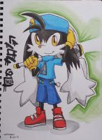 Klonoa and Hammer by emichaca