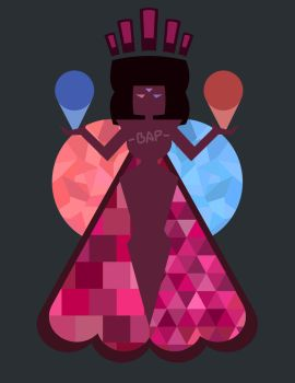 Garnet Diamond Mural by Bappy135