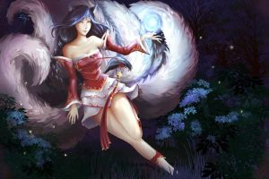 Ahri - The Nine Tailed Fox by SillyV