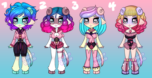 Sheep Ferret Adopts [OPEN] by DracoPlato