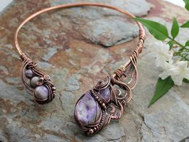 Ananda - Bliss - Neck Torc - Copper by AbbyHook