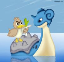 Pokemon: Lapras and Farfetch'd