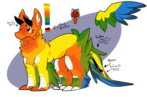 [Adoptable: Closed] Sunny the Dutch Angel Dragon. by CanadaLine