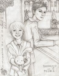 The Real Ouran: Hunny and Mori by commoner-pocky