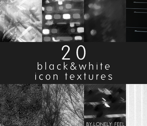 20 black and white icon textures by iksh