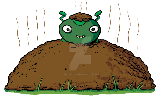 Dung Beetle 03 by LeighWalls-Artist