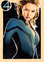 Invisible Woman - Sketch Card by J-Redd