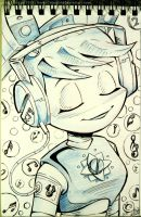 InkTober -Day 2 - My Life as a Teenage Robot by Heidi-Celestial