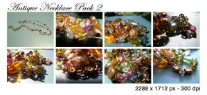 Antique Necklace Pack 2 by tennyoSTOCK