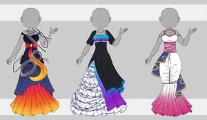 Dress Adopt Set 12 (2/3 Open) by VioletAether