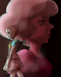 Pearl and Pink diamond by SiameseArtSketch