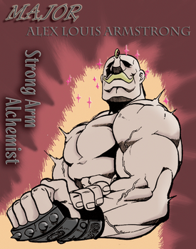 FMA Poster - Major Armstrong by DemonEyesNick