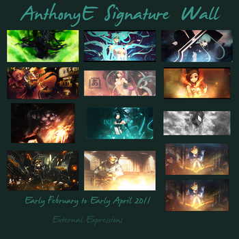 Feb-Apr Signature Wall by TheAnthonyE