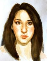 Self Portrait in Watercolor by Audwee