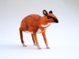 Needle felted Chevrotain by creturfetur