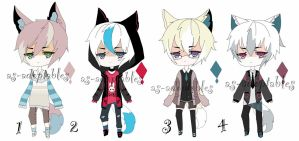 kemonomimi  boy adoptable batch  CLOSED by AS-Adoptables