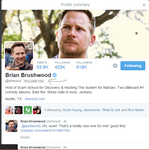 Brian Brushwood followed me on twitter!!!! by Wolf--Prime