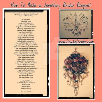How to Make a Steampunk Bridal Bouqet by LisaKelleherJewelry