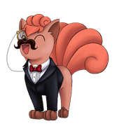 Fancy Vulpix-Charity Collab by Oteibilitz