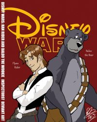 Disney Wars Han Rider and Baloo the Wookie by Inspector97