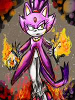 One Hour Sonic 001 Blaze the cat by Eversgreen13