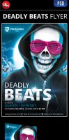 Deadly Beats - Flyer Template by doghead