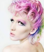 Pink curls by Ryo-Says-Meow