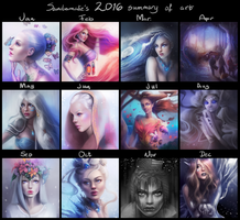 Summary of my art - 2016 by SandraWinther
