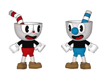 Cuphead and Mugman (WIP) by RavaMaster