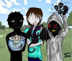 Minecraft's Creepypastas Childen by 3lise-Gautier