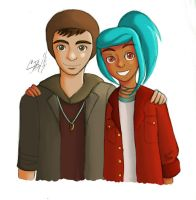 Oxenfree - Jonas and Alex by artisticTaurean