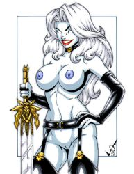 Naughty Lady Death commission2 by gb2k