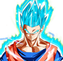 Gohan ssj blue survival arc palette 4 ki by AL3X796