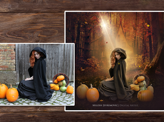 Halloween Magic/ Before and After by MiloshJevremovic