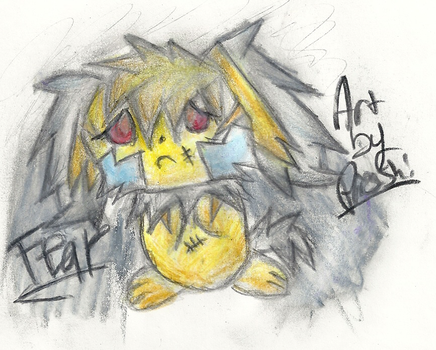Fear the Ghost Pichu by Proshi