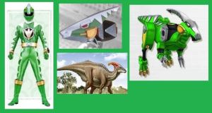 Green Dino Thunder Ranger by Greencosmos80