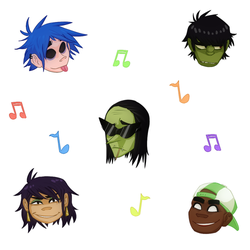Gorillaz Stickers by chimericalist
