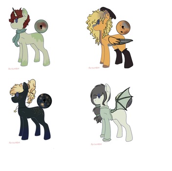 MoonLocked Adopts! 3/4 open! by CloverPigeonStudios
