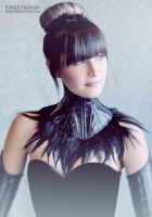 Reptile and Feather Posture Collar by Trinitynavar