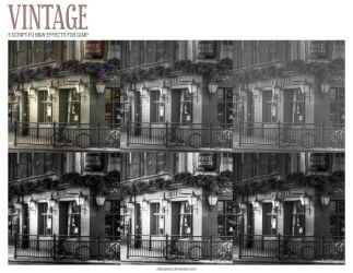 Vintage Color Effects Pack v.1 by ClaireJones