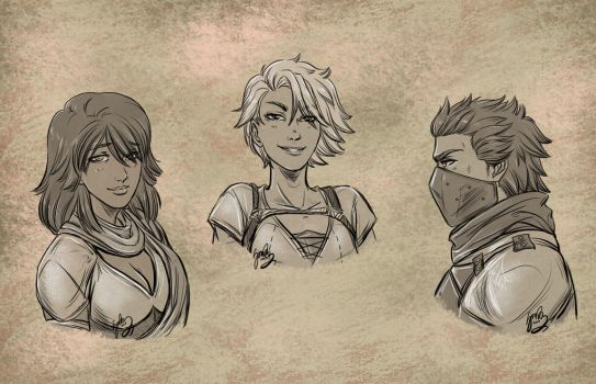 Maria, Roe and August by draupnis