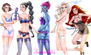 League of Legends Girls by somiko147