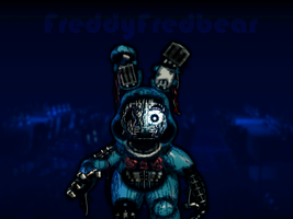 Withered Toy Bonnie (remake) by FreddyFredbear