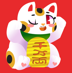 -Lucky Cat by Mephikal