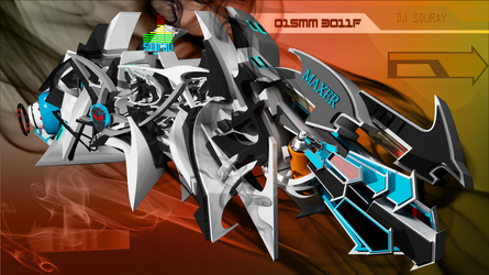 DJ SouRay 3d graffiti close view by anhpham88