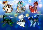 Element Bead Chibi Cats [CLOSED] by OatsAndToast