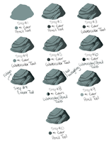 Quick scribbly rock tutorial for SAI by kohu-scribbles