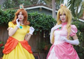 Princess Daisy and Peach II by MeganCoffey