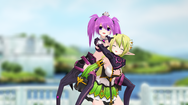 (MMD ELSWORD) piggy back ride in Hamel! by Cresitonia